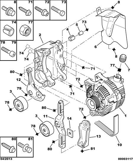 Unable To Remove Alternator Bolt: Looking For A Alternator Adjuster Bolt