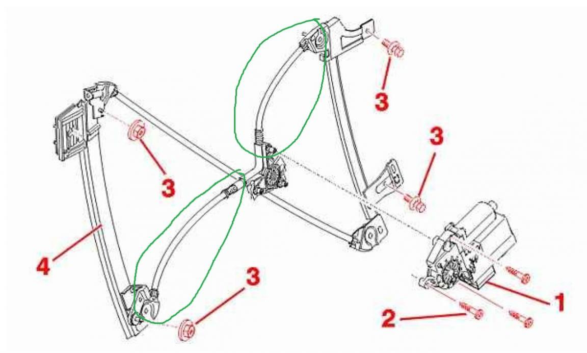 307cc electric window mechanism query