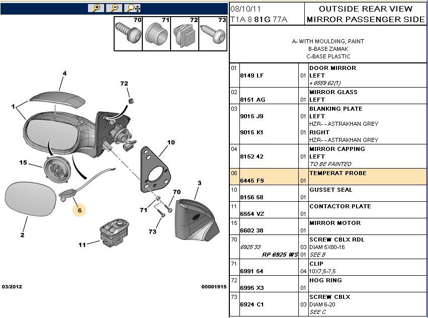 206 Gti Outside Temp Sensor  Wingmirror