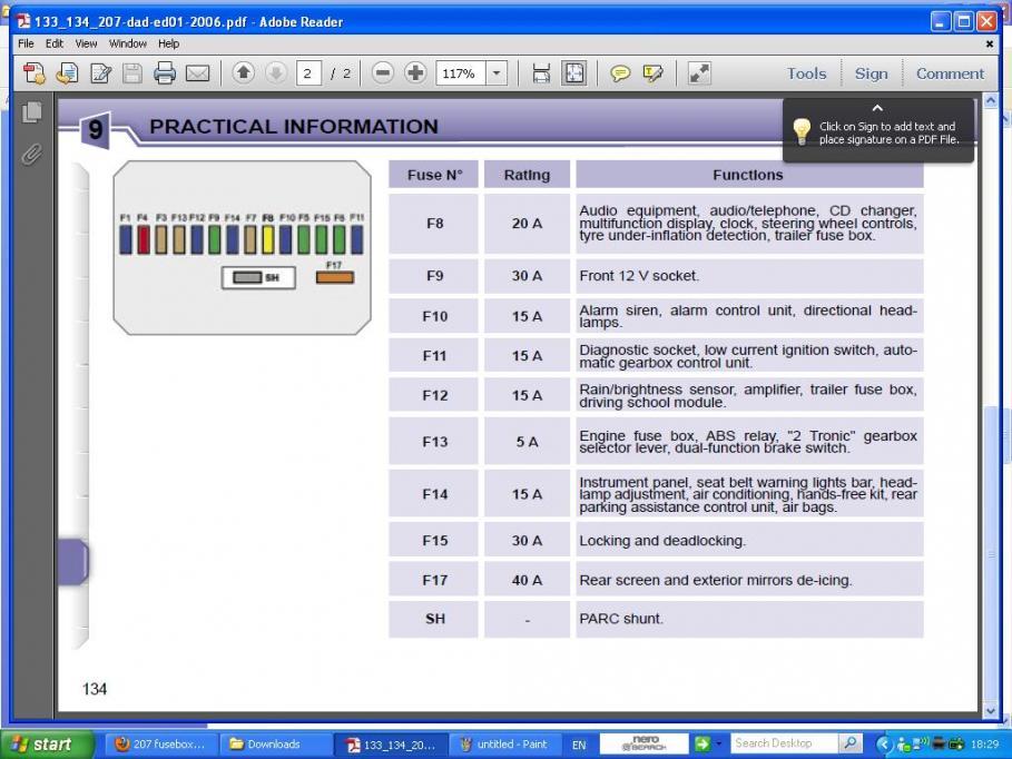 207 fusebox diagram | peugeot forums  peugeot forums