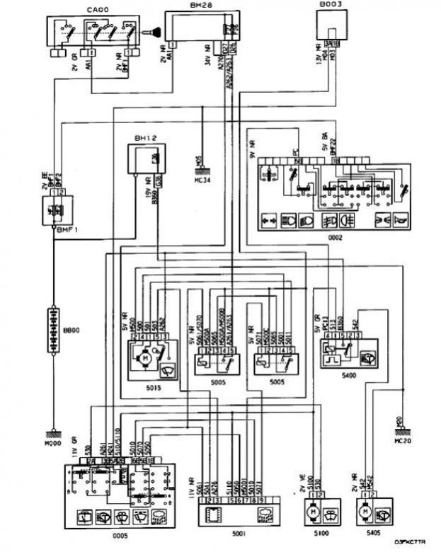 1999 306 rain sensor wiper wiring diagram needed
