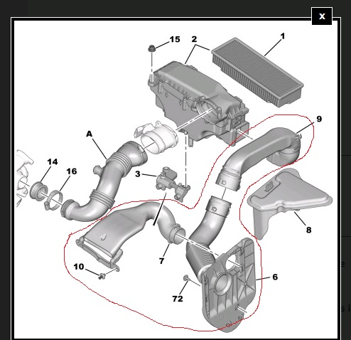 307 1 6 Hdi Air Intake Pipes Missing Peugeot Forums