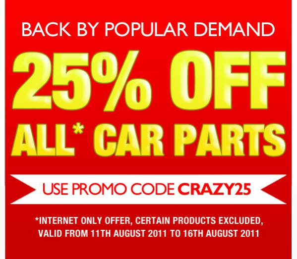Euro Car Parts 25 Off Discount Code Peugeot Forums