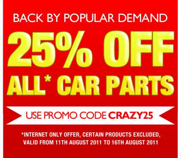 Car Parts Promo Code For Euro Car Parts