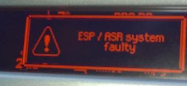 Asr esp fault   Peugeot ESP ASR System Fault ABS Braking Fault
