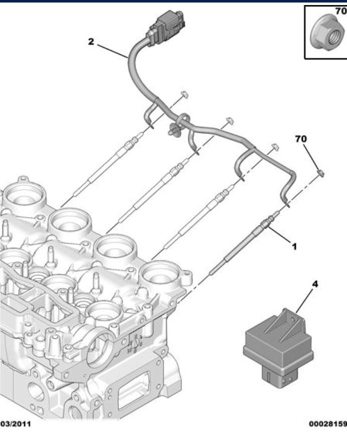 307 glow plug location with picture