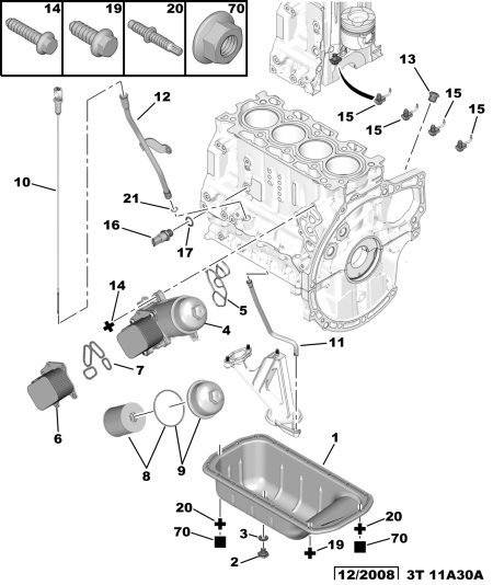 oil filter location on 2002 1.1L 206 - Peugeot Forums: Peugeot 206 Engine Parts Diagram at e-platina.org
