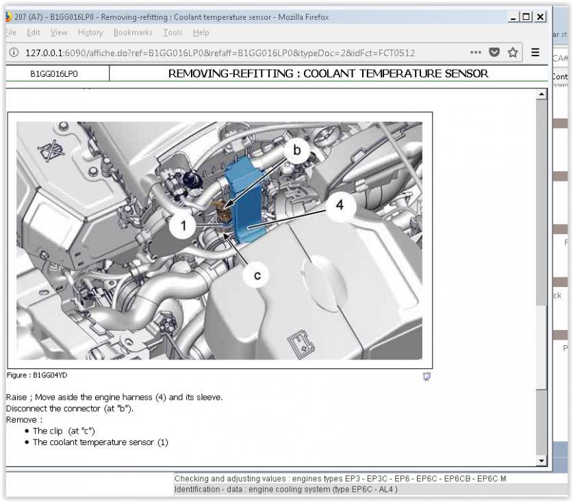 207 1 6vti coolant temp sensor replacement - Peugeot Forums