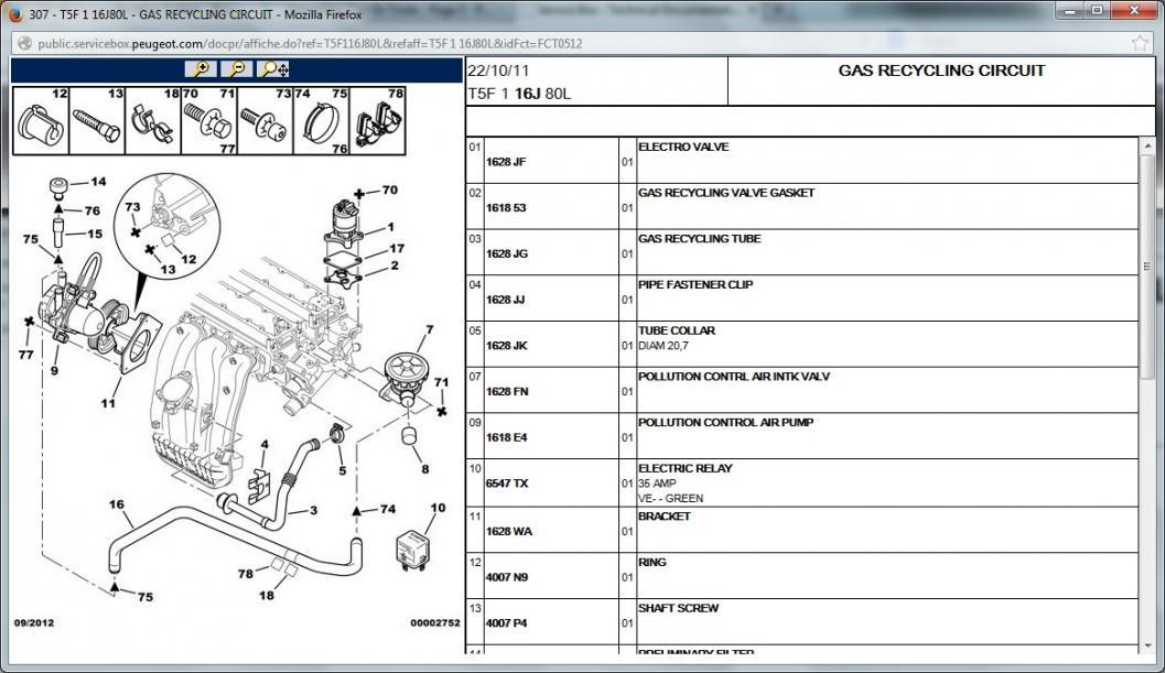 Peugeot Vacuum Diagram : Engine breather system peugeot forums